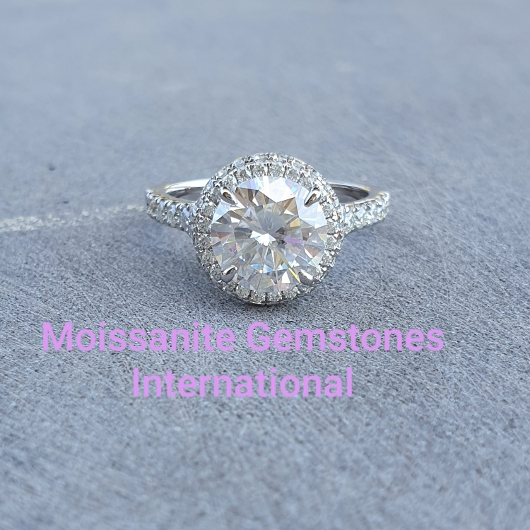Stunning 2ct Engagement Ring, with double halo