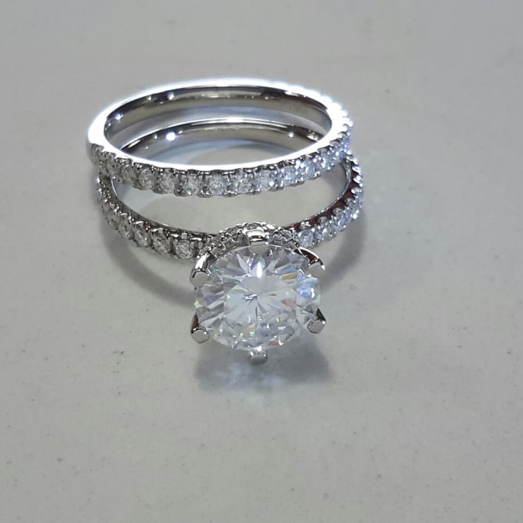 Custom Made Moissanite Ring