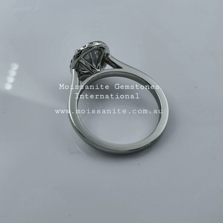 1.65ct halo oval cut Moissanite Engagement Ring